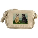 Brussels griffon Canvas Messenger Bags