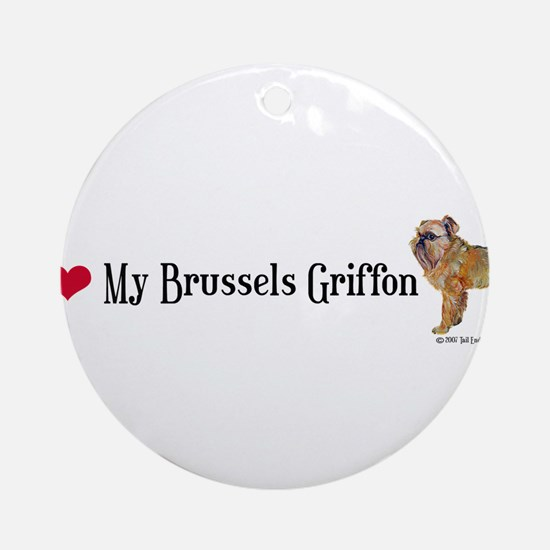Brussels Griffon Heart Ornament (Round)