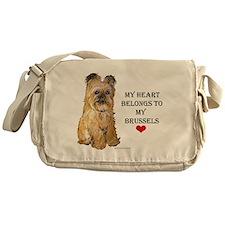 Brussels Griffon Heart Messenger Bag
