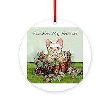 Pardon My French Bulldog Ornament (Round)