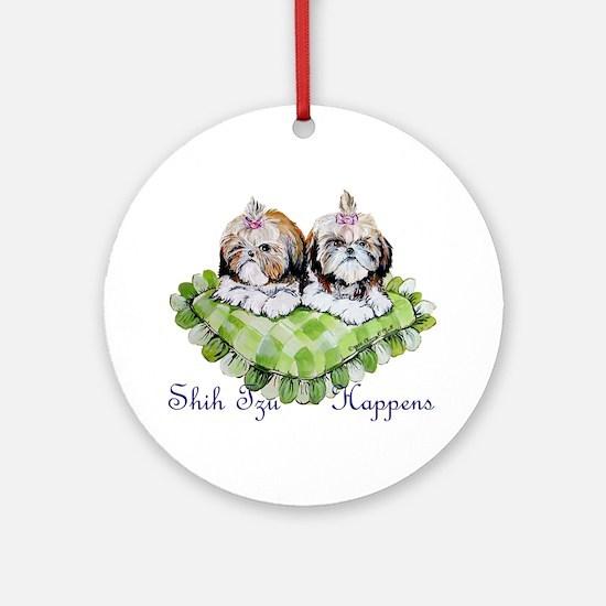 Shih Tzu Happens! Ornament (Round)