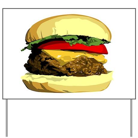 Cheeseburger Yard Sign