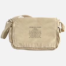 RULES FOR DOING GOOD Messenger Bag