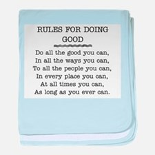 RULES FOR DOING GOOD baby blanket