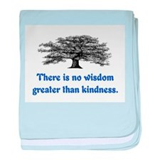 WISDOM GREATER THAN KINDNESS baby blanket