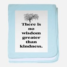 WISDOM GREATER THAN KINDNESS (TREE) baby blanket