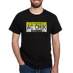 AC Chick NJ Vanity Plate Black T-Shirt