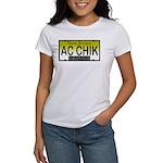 AC Chick NJ Vanity Plate Women's T-Shirt