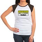 AC Chick NJ Vanity Plate Women's Cap Sleeve T-Shir