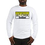 AC Chick NJ Vanity Plate Long Sleeve T-Shirt