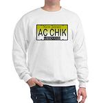 AC Chick NJ Vanity Plate Sweatshirt