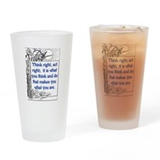 THINK RIGHT Drinking Glass