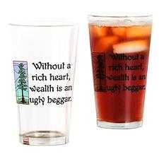 RICH HEART... Drinking Glass