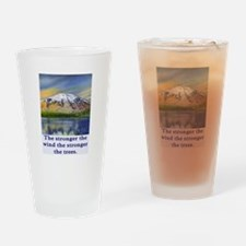 STRONGER THE TREES.. Drinking Glass