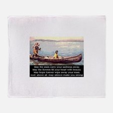 THE WISDOM OF SILENCE Throw Blanket