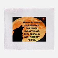 SHOW RESPECT FOR ALL Throw Blanket