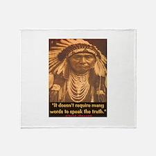 SPEAK THE TRUTH Throw Blanket