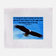 EAGLE QUOTE Throw Blanket