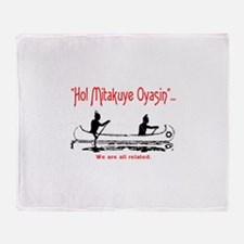WE ARE ALL RELATED Throw Blanket