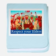 RESPECT YOUR ELDERS baby blanket