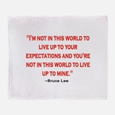 BRUCE LEE QUOTE Throw Blanket