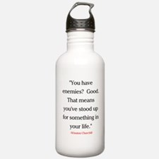 CHURCHILL QUOTE - ENEMIES Water Bottle