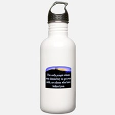 GET EVEN WITH KIND PEOPLE Water Bottle