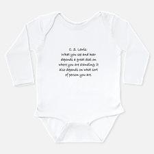 C.S. LEWIS QUOTE Long Sleeve Infant Bodysuit