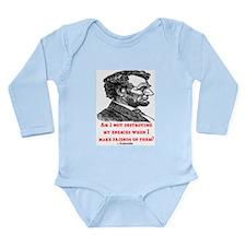 LINCOLN ENEMIES QUOTE Long Sleeve Infant Bodysuit