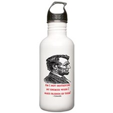 LINCOLN ENEMIES QUOTE Water Bottle