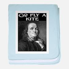 GO FLY A KITE (2) baby blanket