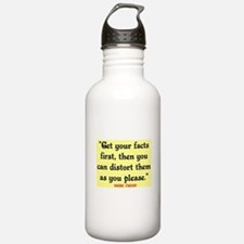 MARK TWAIN - FACTS FIRST QUOTE Water Bottle