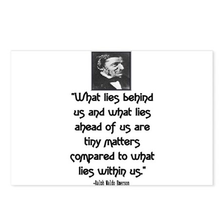 EMERSON - WHAT LIES WITHIN US. Postcards (Package