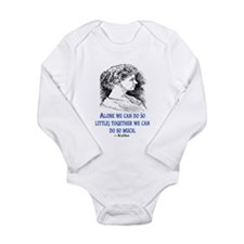 KELLER QUOTE Long Sleeve Infant Bodysuit