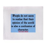 EMERSON - CHARACTOR QUOTE Throw Blanket