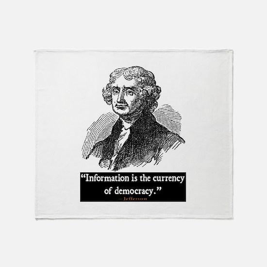 JEFFERSON DEMOCRACY QUOTE Throw Blanket