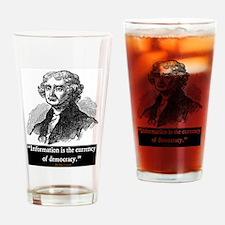 JEFFERSON DEMOCRACY QUOTE Drinking Glass