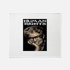HUMAN RIGHTS Throw Blanket