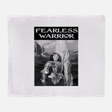 FEARLESS WARRIOR Throw Blanket