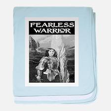 FEARLESS WARRIOR baby blanket