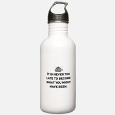 NEVER TOO LATE Water Bottle