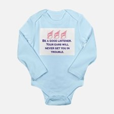 GOOD LISTENER Long Sleeve Infant Bodysuit