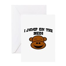 I JUMP ON THE BED! Greeting Card