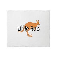 LITTLE ROO - BROWN ROO Throw Blanket