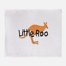 LITTLE ROO - BROWN ROO Throw Blanket