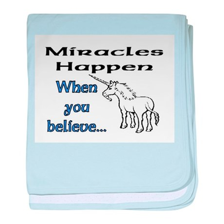 MIRACLES HAPPEN baby blanket