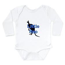 LITTLE ROO (BLUE) Long Sleeve Infant Bodysuit