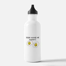 EGGS MAKE ME HAPPY!! Water Bottle