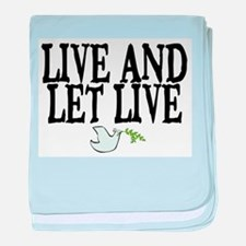 LIVE AND LET LIVE (DOVE) baby blanket