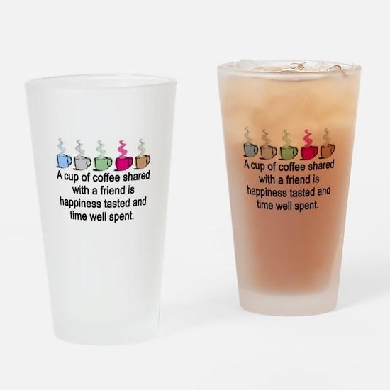 COFFEE SHARED Drinking Glass